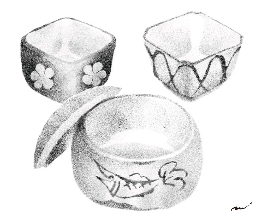 食器・小鉢のイラスト